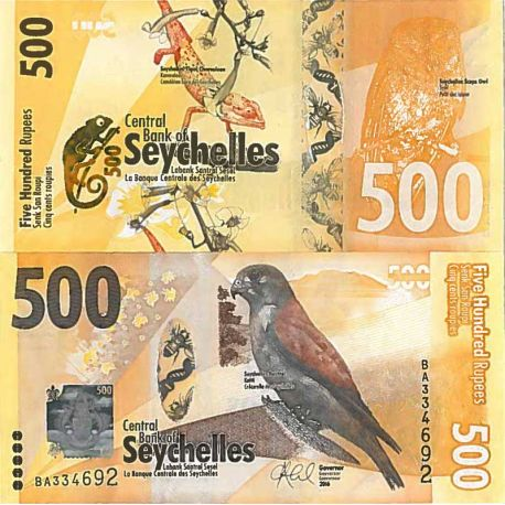 Billet de banque collection Seychelles - PK N° 999 - 500 Ruppes