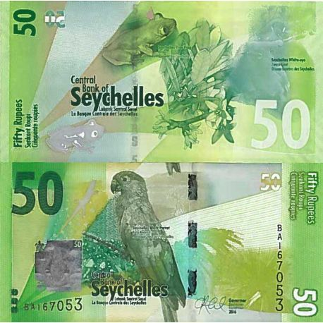 Billet de banque collection Seychelles - PK N° 999 - 50 Ruppes