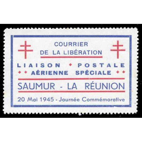 Etichetta posta della liberazione Saumur la riunione