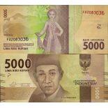 Billet de banque collection Indonesie - PK N° 156 - 5 000 Rupiah