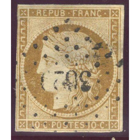 Timbre collection France N° Yvert et Tellier 1 Oblitération PC