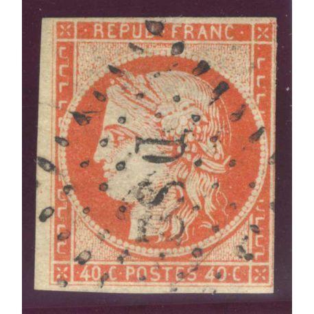 Timbre collection N° Yvert et Tellier 5 Oblitéré, lég. court