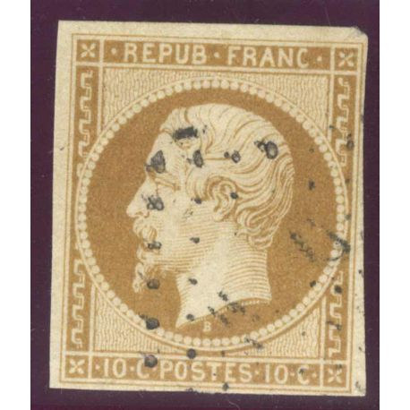 Timbre collection N° Yvert et Tellier 9 Oblitéré, bel exemplaire