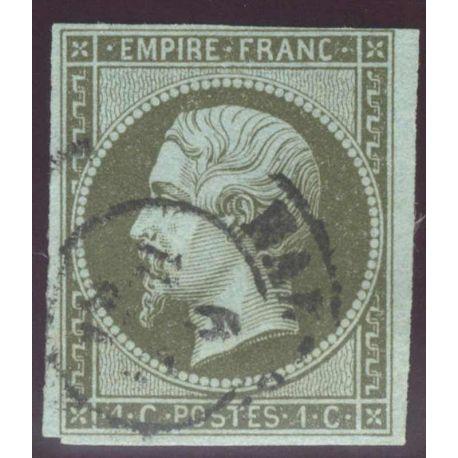 Timbre collection N° Yvert et Tellier 11 Oblitéré Cad