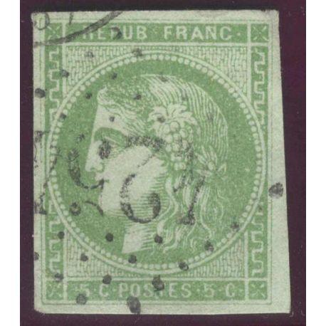 Timbre collection N° Yvert et Tellier 42B Oblitéré gros chiffres, bel exemplaire