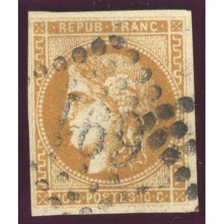 Timbre collection N° Yvert et Tellier 43A Oblitéré gros chiffres