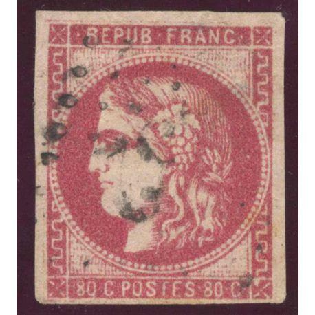 Timbre collection N° Yvert et Tellier 49 oblitéré gros chiffres