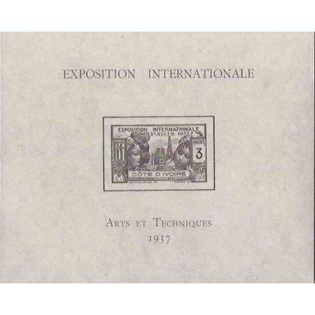 Timbre collection Côte d'Ivoire N° Yvert et Tellier BF 1 Neuf sans charnière