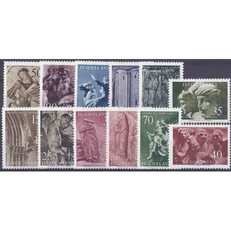 Timbre collection Yougoslavie N° Yvert et Tellier 680/691 Neuf avec charnière