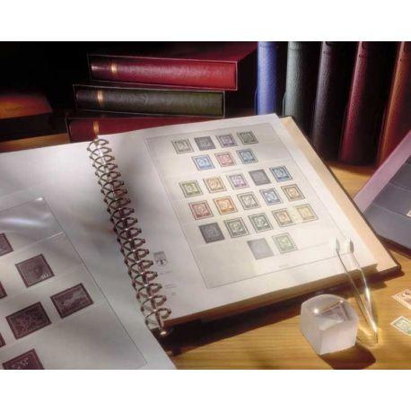 Lindner Frankreich spezielle Blätter selbstklebende Briefmarken Unternehmen - Jahr 2014