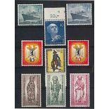 Berlin 1955 Année complète en timbres neufs