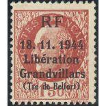 Befreiung von Grandvillars N° 8 neun ohne Scharnier 1944