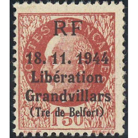 Liberazione di Granvillars Neuf senza cerniera