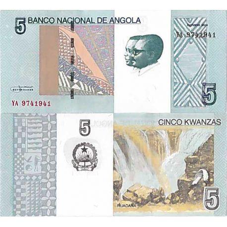 Billete de banco colección Angola - PK N° 999 - 5 Kwanza