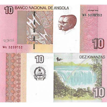 Billete de banco colección Angola - PK N° 999 - 10 Kwanza