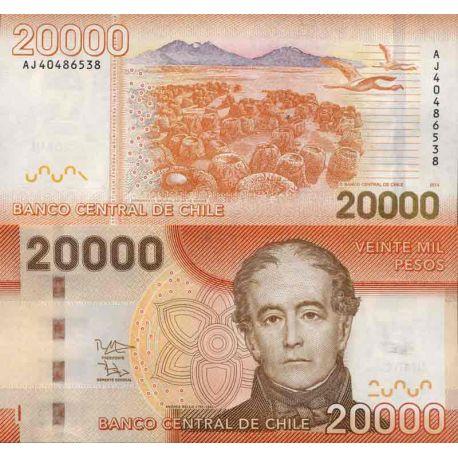 Banknote Sammlung Chile - PK Nr. 165 - 20.000 Pesos