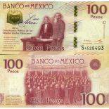 Banknote Sammlung Mexiko - PK Nr. 130 - 100 Pesos