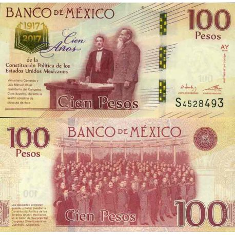 Billet de banque collection Mexique - PK N° 999 - 100 Pesos