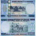 Billete de banco colección Ruanda - PK N° 35 - 1.000 Francos
