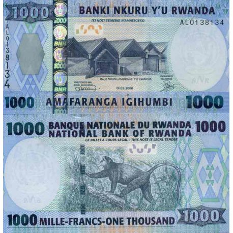 Biglietto di banca raccolta Ruanda - PK N° 35 - 1.000 franchi