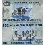 Banknote Rwanda collection - PK N° 38 - 500 Francs
