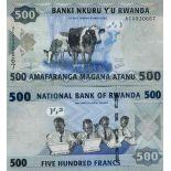 Billet de banque collection Rwanda - PK N° 38 - 500 Francs