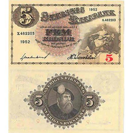 Billet de banque collection Suede - PK N° 33 - 5 Kronor