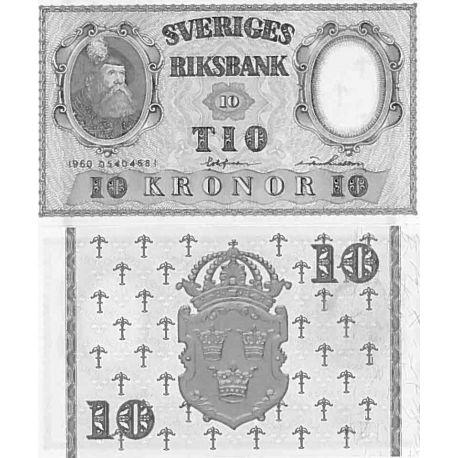 Billet de banque collection Suede - PK N° 43 - 10 Kronor