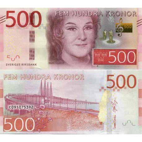 Billet de banque collection Suede - PK N° 73 - 500 Kronor