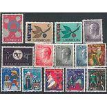 Lussemburgo 1965 anno completa in francobolli nuovi