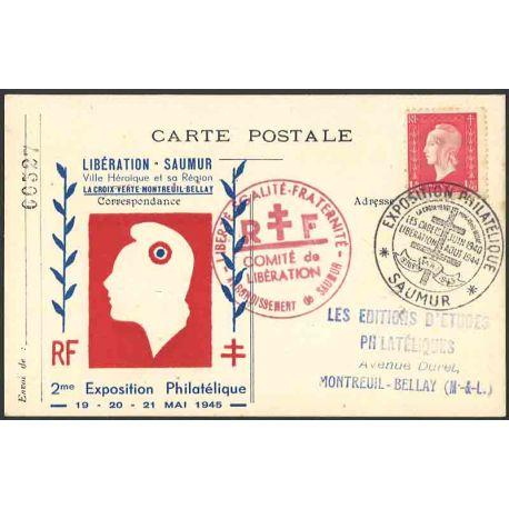 Carte liberation Saumur