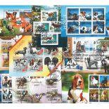 10 blocs modernes oblitérés sur le théme des Chiens