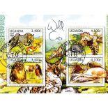 Bloc de 4 timbres Chats Sauvages