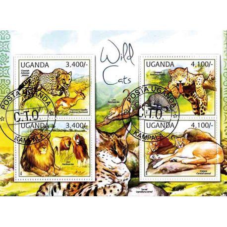 Bloc de 4 timbres Réchauffement climatique