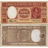 Banknoten Sammlung Chile Pick Nummer 120 - 10 Peso