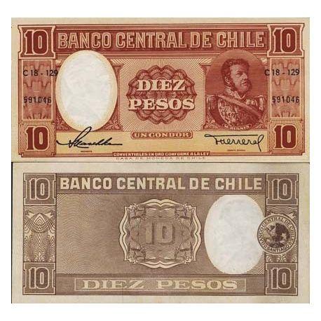 Chili - Pk N° 120 - Billet de 10 Pesos