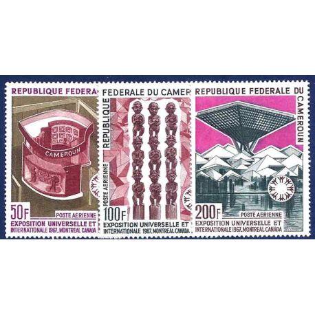 Francobollo raccolta Camerun N° Yvert e Tellier PA 103/105 nove senza cerniera
