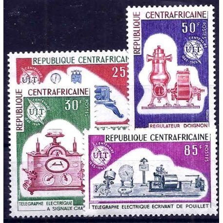 Stempel Sammlung Zentral-Afrika N° Yvert und Tellier 57/50 neun ohne Scharnier