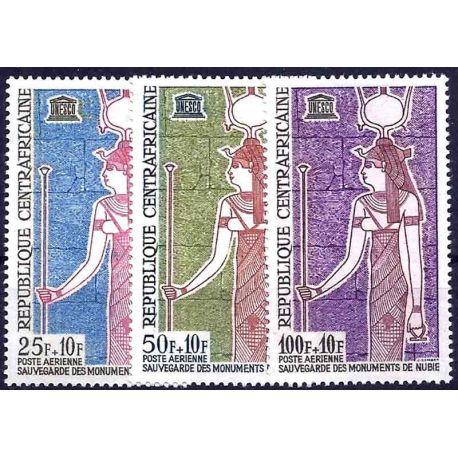 Stempel Sammlung Zentral-Afrika N° Yvert und Tellier PA 18/20 neun ohne Scharnier