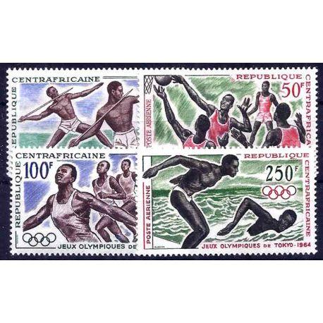 Timbre collection Centrafrique N° Yvert et Tellier PA 22/25 Neuf sans charnière