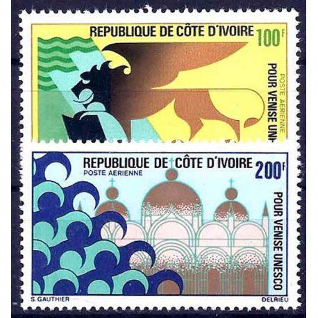 Timbre collection Côte d'Ivoire N° Yvert et Tellier PA 54/55 Neuf sans charnière