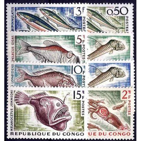 Stempel Sammlung der Kongo N° Yvert und Tellier 142/147A Neuf ohne Scharnier