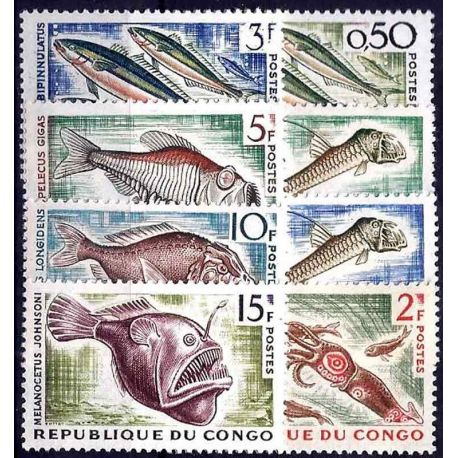 Timbre collection Congo N° Yvert et Tellier 142/147A Neuf sans charnière