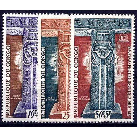 Francobollo raccolta Congo N° Yvert e Tellier PA 15/17 nove senza cerniera