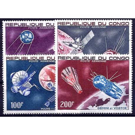 Stempel Sammlung der Kongo N° Yvert und Tellier PA 55/58 neun ohne Scharnier