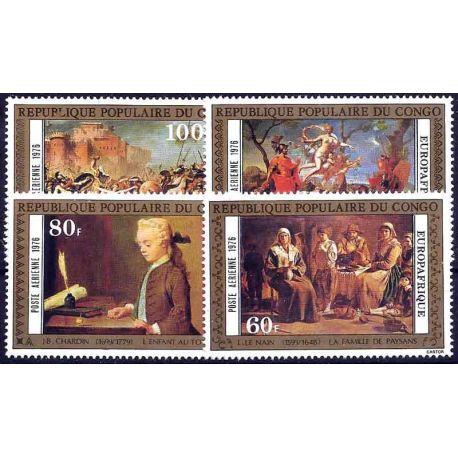 Stempel Sammlung der Kongo N° Yvert und Tellier PA 222/225 neun ohne Scharnier