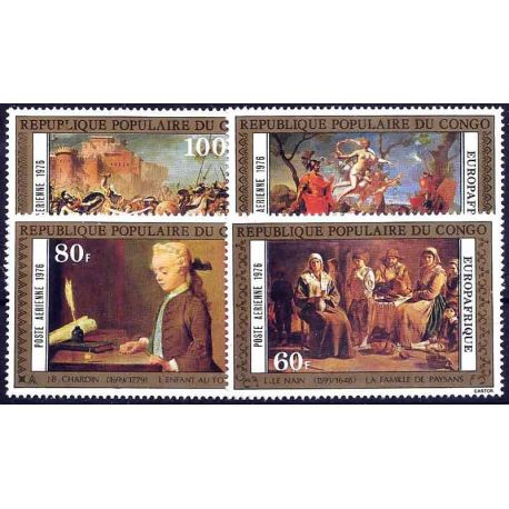 Timbre collection Congo N° Yvert et Tellier PA 222/225 Neuf sans charnière