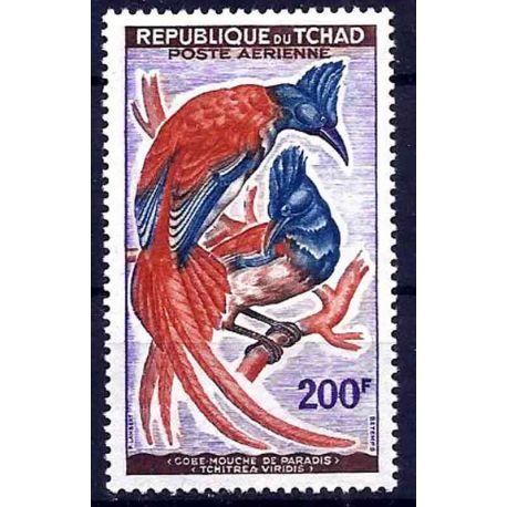 Stempel Sammlung Tschad N° Yvert und Tellier PA 4 neun ohne Scharnier
