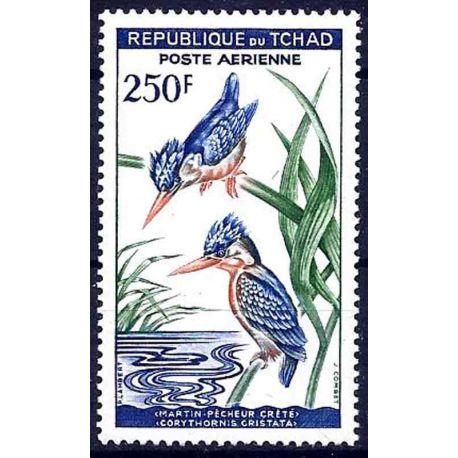 Stempel Sammlung Tschad N° Yvert und Tellier PA 5 neun ohne Scharnier
