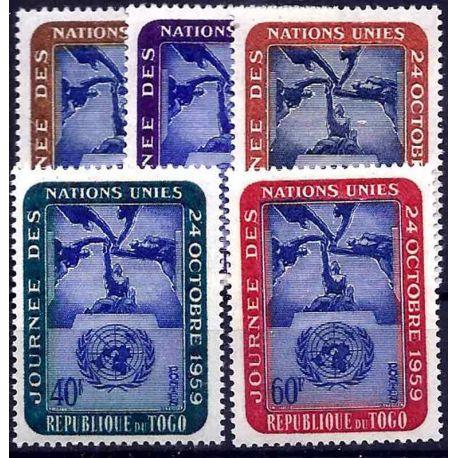 Francobollo raccolta Togo N° Yvert e Tellier 295/299 nove senza cerniera